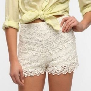 Kimchi blue urban outfitters crochet shorts